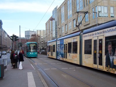Trams in Frankfurt