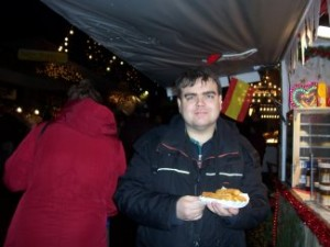 Eating Churros - a Spanish speciality