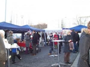 Christmas market at the book shop...