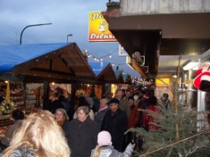 The Christmas Market on the bank of the Rhine